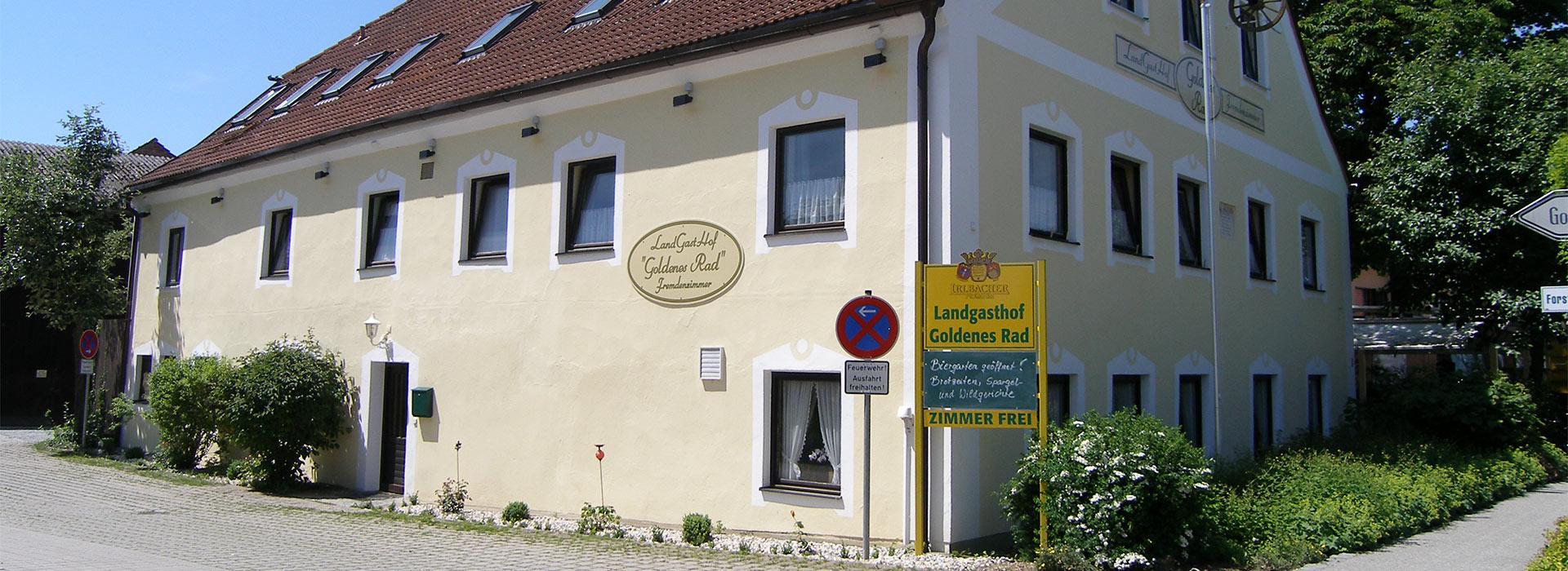Gästezimmer und Gaststätte mit Biergarten in Aiterhofen bei Straubing